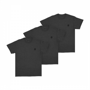 KEEP IT ESSENTIAL T-SHIRT GREY 3-PIECE SET